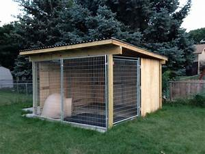 kami39s finished kennel roofing material wood nails With outdoor fenced dog kennel