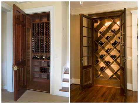 wine rack storing wine in a home wine cellar