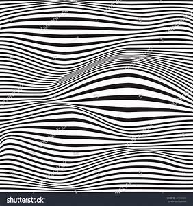 Vector Illustration Wave Striped Textured Monochrome Stock ...