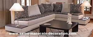 Banquette Marocaine Moderne : le choix de tissu pour habiller ces meubles est tr s important pour donner une jolie d coration ~ Dode.kayakingforconservation.com Idées de Décoration