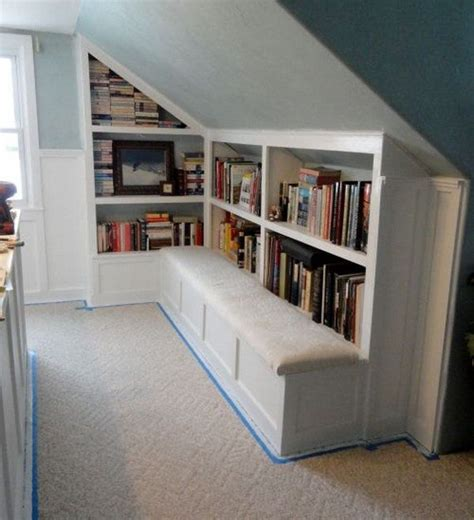 Stairs Shelf Ideas For Book Storage by Creative Attic Storage Ideas And Solutions Shelf Ideas