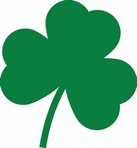 Free Clipart Of A St Paddys Day Solid Green Shamrock Four ...