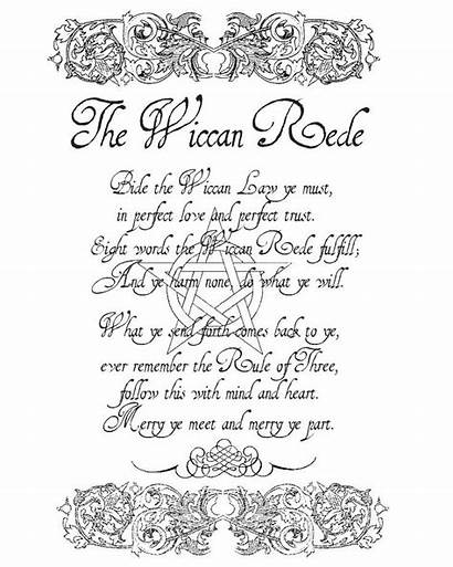 Wiccan Shadows Rede Charmed Coloring Pages Witch