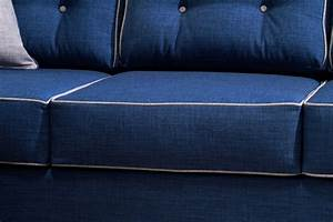 2 Pcs Blue Sofa Set