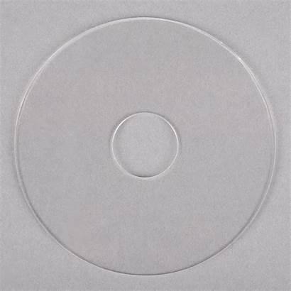 Clear Plastic Disk Noble Dispenser Label