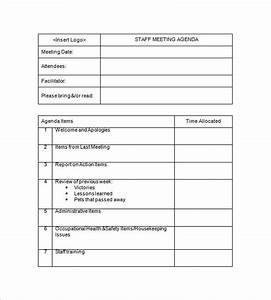 staff meeting minutes templates 15 free sample example With one on one staff meeting agenda template