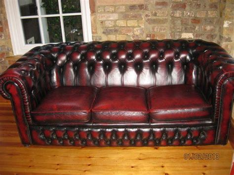 chesterfield settees second oxblood leather chesterfield settee sofa living room