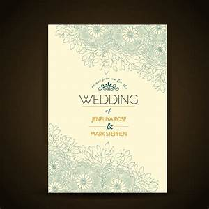floral wedding invitation template vector free download With wedding invitations ai template