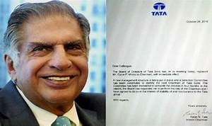 Ratan Tata Writes Letter To Employees After Removing Cyrus