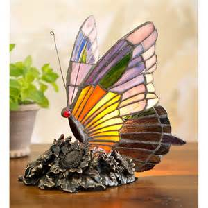 Tiffany Stained Glass Butterfly Lamp