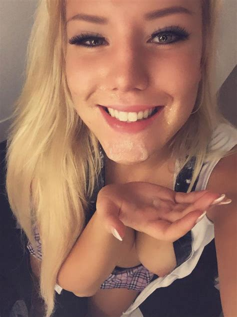 Beautiful blonde taking a selfie after a facial - Xxx Photo