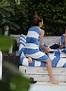 Katharine McPhee in a Bikini by the Pool in Miami ...