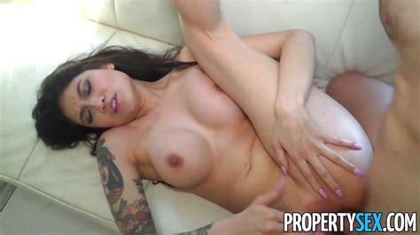 Propertysex Big Tit Asian Brenna Sparks Fucks Landlord
