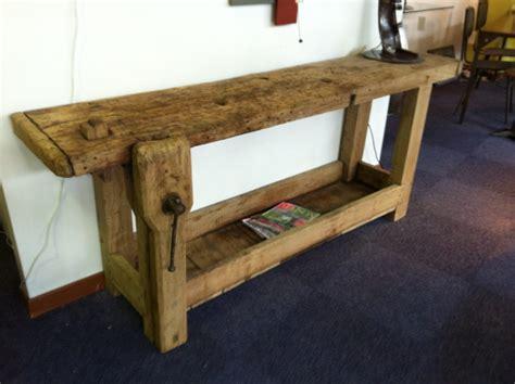 etabli bois ancien brocante industrielle style industriel