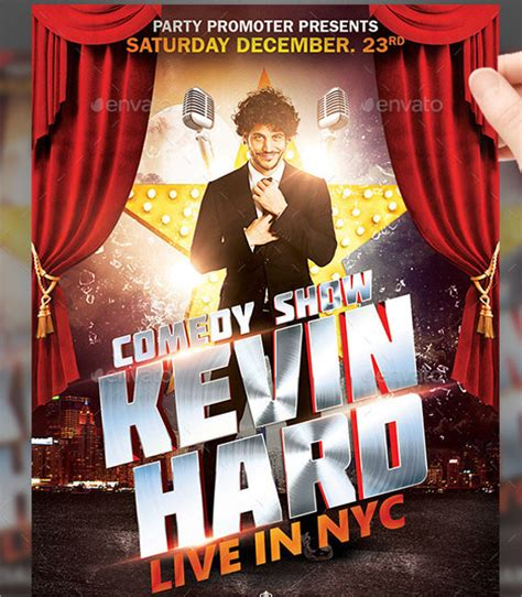 comedy show flyer templates  eps psd