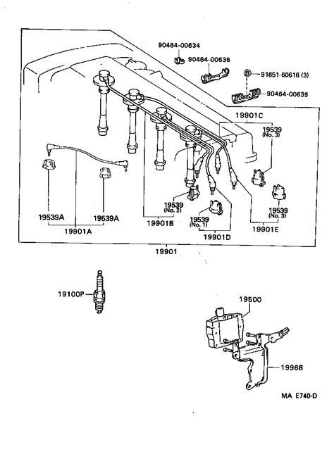 toyota corollaae acmzf tool engine fuel ignition