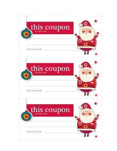 santa coupon  coupon ticket template  hloomcom