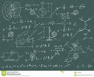 Physics Diagrams And Formulas Stock Illustration