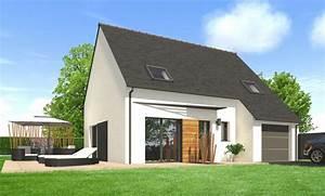 maison moderne toit ardoise avie home With plan maison demi etage 11 nos derniares creations constructions du belon