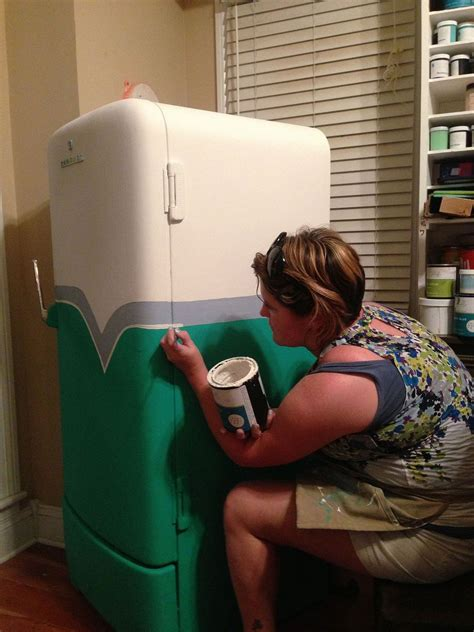 hometalk  retro fridge makeover