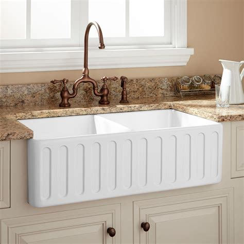 decorating kitchen countertops ideas 33 quot northing bowl fireclay farmhouse sink white