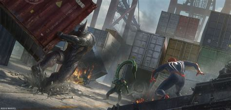 Marvels Spider Man Ps4 Concept Art By Dennis Chan