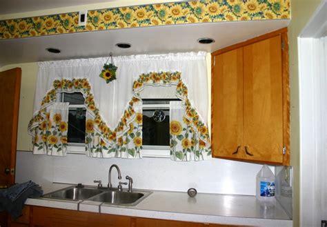 sunflower kitchen decorating ideas sunflower kitchen decor with painted sunflower on cabinet