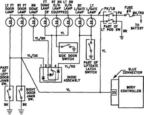 plymouth voyager  interior light wiring diagram