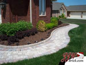 landscape walkway designs paver walkway design ideas traditional landscape detroit by jjw brick com