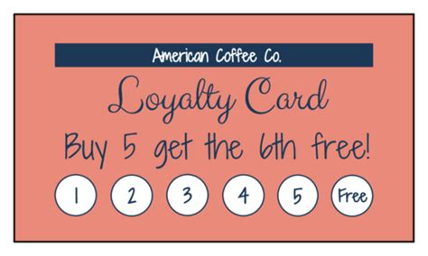 simple loyalty card