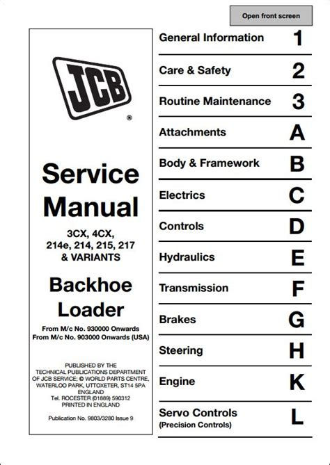 jcb cxcxe variants backhoe loader service repair manual  repair manual store