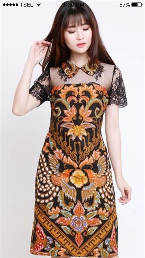 batik motif  perfectly  ladies dress