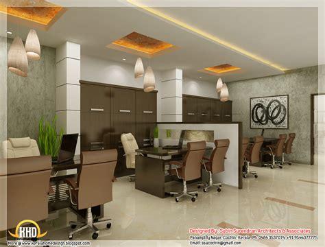 3d home interior design beautiful 3d interior office designs kerala home design