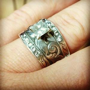 142 best wedding images on pinterest wedding bouquets With western wedding rings for women