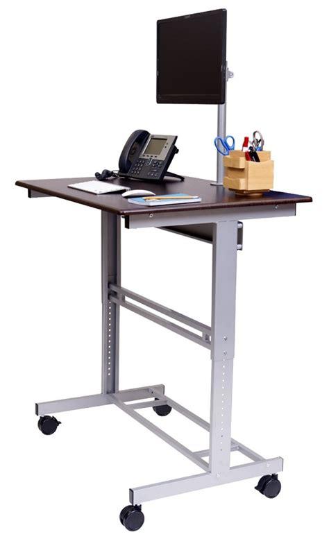 stand up height adjustable desk top 10 best standing sit stand desks 2018 editors pick