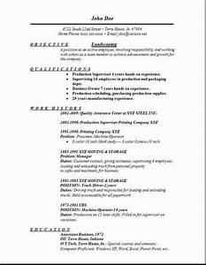 Bank Resume Samples Landscaping Resume Occupational Examples Samples Free