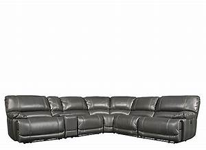 Dowling 6 pc sectional sofa w 2 power recliners and 1 for Dowling 6 pc sectional sofa w 2 power recliners