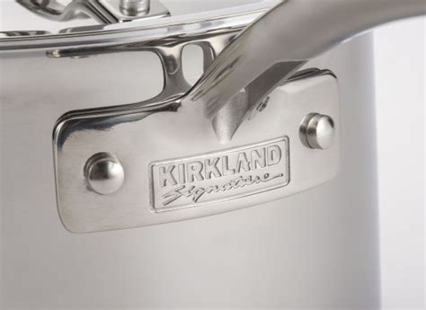 kirkland signature costco  piece stainless steel tri ply clad cookware consumer reports