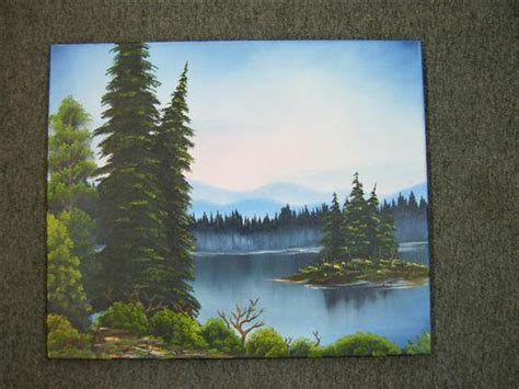 Bob Ross Style Step By Step Painting Classes With Sharon