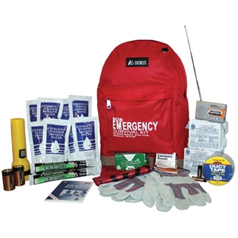 person deluxe emergency survival kit  backpack