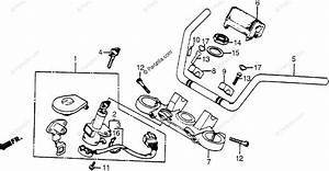 Honda Motorcycle 1984 Oem Parts Diagram For Handlebar