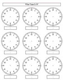 Time Blank Clock Worksheets