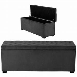 Bout De Lit Capitonné : banc bout de lit noir ~ Melissatoandfro.com Idées de Décoration