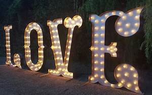 hire light up letters hire letter lights hire local With hire large letter lights