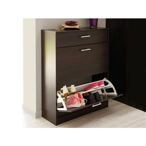 commode chambre fille meuble a chaussures wenge 3 portes caliari