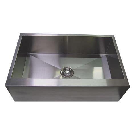 30? Stainless Steel Zero Radius Kitchen Sink Flat Apron