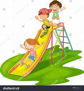 The Images Collection of Vector kindergarten kids playing