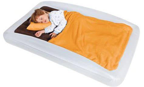 a comfortable and cosy outdoor toddler travel bed from the