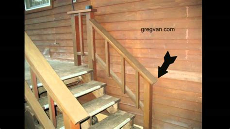 Building Code For Deck Stairs by Watch This Video Before Building A Deck Stairway Handrail
