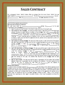 contract templates  words templates